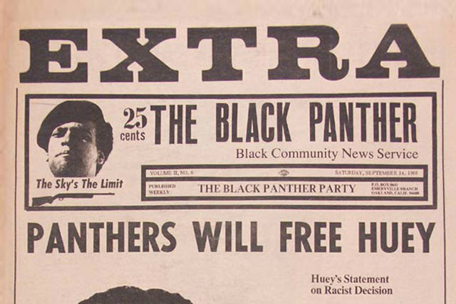 Black Panther Newspaper from Black Thought and Culture database - Panthers Will Free Huey