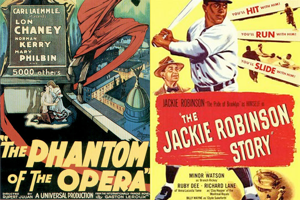 Public Domain films - Phantom of the Opera and the Jackie Robinson Story