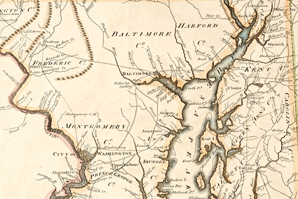 map - early Maryland history