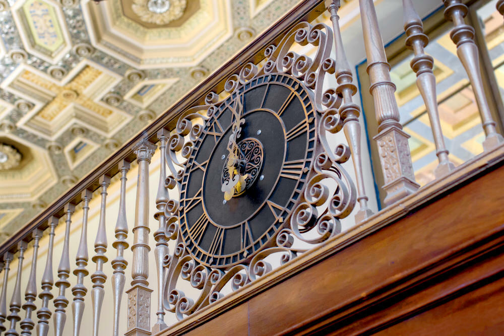 Central Library clock and balcony