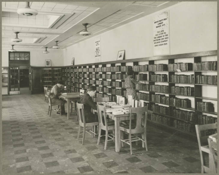Branch 9 Locust Point interior 1937