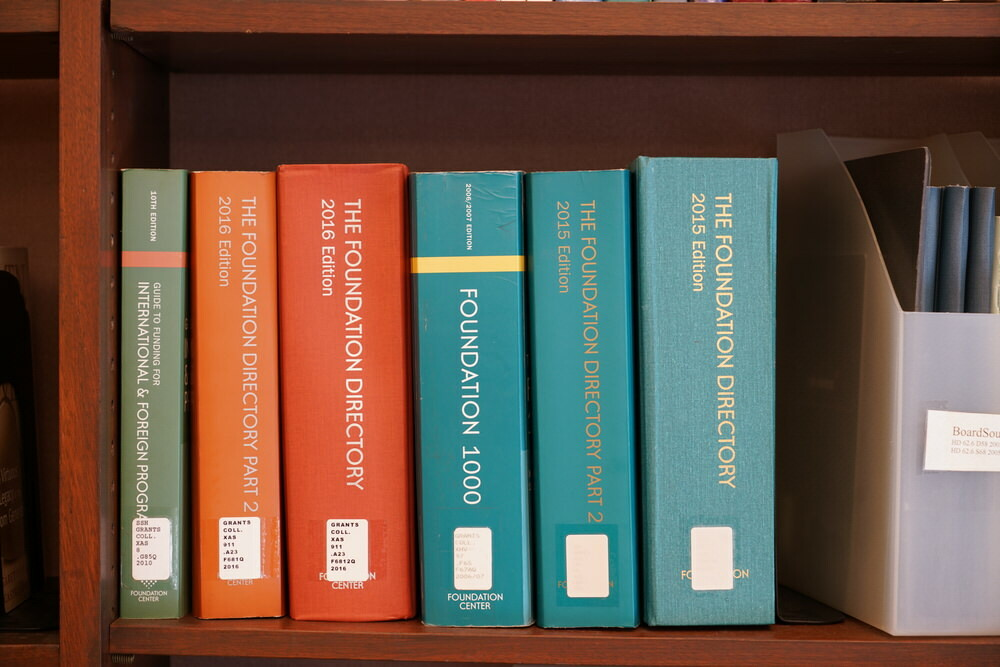 Grants Collection books - Foundation-Directory shelf