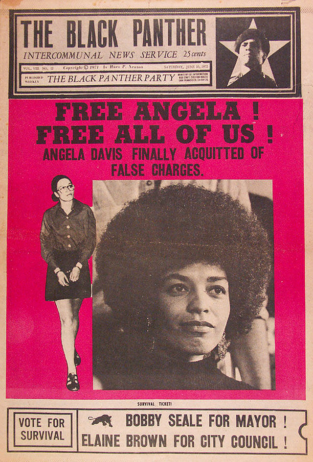 The Black Panther news, 1972: Free Angela! Free All of Us!