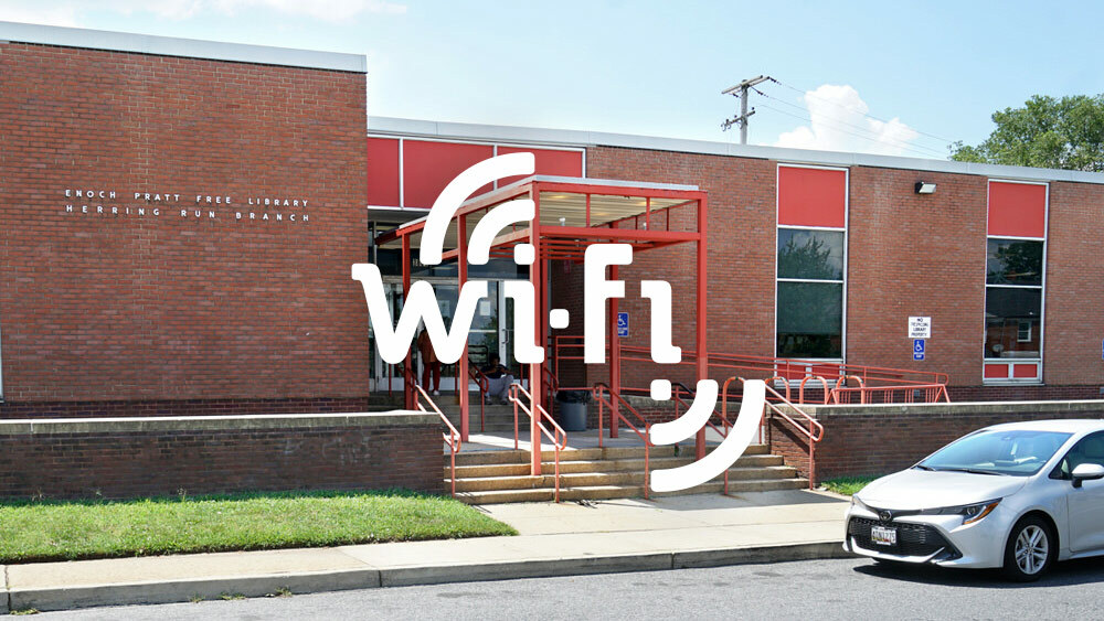 Drive-In Wi-Fi - hotspot logo and a Pratt branch with a car outside