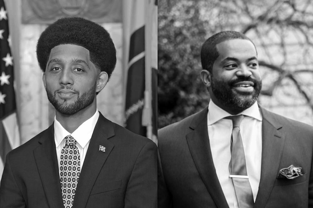 Baltimore Mayor Brandon Scott and City Council President Nick Mosby